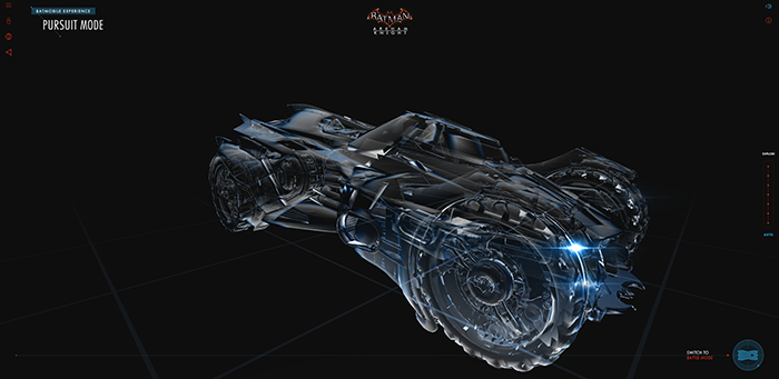 Interactive 3D Batmobile - Web Design Inspirational link