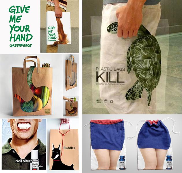 Creative bagvertising