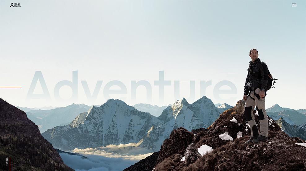 Bear Grylls - Web Design Inspiration