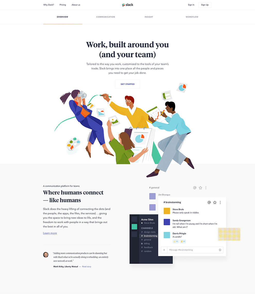 Slack - Web Design Inspiration